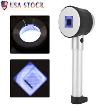 10X Handheld LED Optical Glass Magnifier with Scale Magnifying Jewelry Loupe