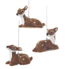 Furry Baby Deer Ornaments