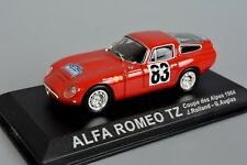 R&L Diecast: Alfa Romeo TZ Coupe des Alpes 1964 Rally Car in Display Case