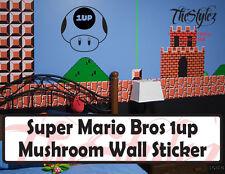 Super Marios Bros. 1 UP Mushroom Oversize Vinyl Wall Sticker