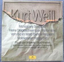 KURT WEILL 3 LP Boxed set David Atherton London Sinfonietta DGG