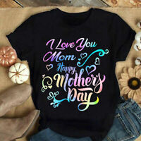 I Love Mom T-Shirt, Happy Mother's Day, Special Gift For Your Mama