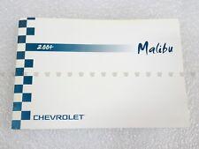 Chevrolet NEW Owner Manual Malibu 2004