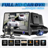 4 '' Dual Lens HD 1080P Auto DVR Rearview Kamera Video Dashcam Recorder G-Sensor