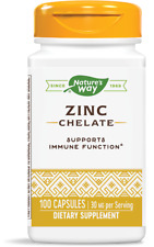 Nature's Way Zinc 100 Capsules, Supports Immune Functions, FAST FREE SHIPPING