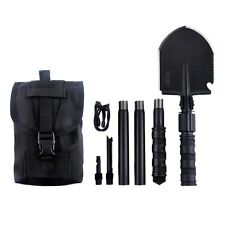 Iunio Military Portable Folding Shovel [31 inch Length ]and Pickax with Tactical