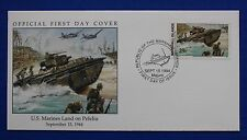 Marshall Islands (495) 1994 WWII: US Marines Land on Peleliu Official FDC