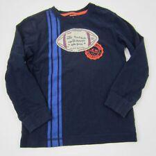 Gymboree Boys Top Graphic Football Casual L/S Shirt 100% Cotton Blue Size 6
