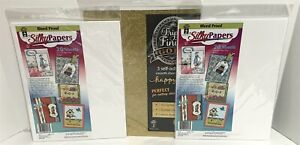 Hot Off the Press Bleed Proof Silky Papers Alcohol Marker Glitter Cardstock Lot
