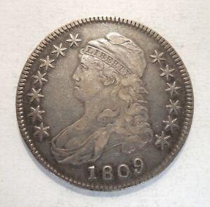 1809 - Capped Bust Half Dollar - 50¢ - Silver Coin - O-105 - R-2