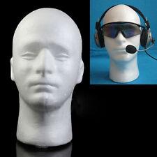 Male Mannequin Styrofoam Foam Manikin Head Model Hat Glasses Wig Display Stand