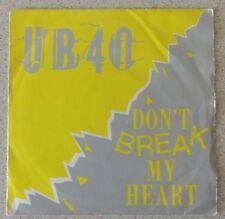 "UB40, Don't Break My Heart 7"", DEP International"
