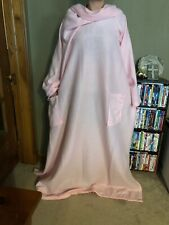 Snuggie Adult Blanket With Sleeves Light Pink