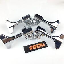 New Wilkinson WJB-750 Chrome Bass Guitar tuners Machine Heads Open Gear 2L2R