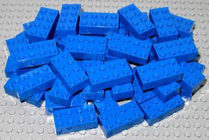 LEGO Bricks   2x4 x 50 pcs - Blue - Brand New - Part.no. 3001