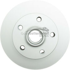 One New ATE Coated Disc Brake Rotor Rear 2411107203102 for Volkswagen VW