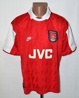 ARSENAL LONDON 1994/1996 HOME FOOTBALL SHIRT JERSEY NIKE SIZE L ADULT