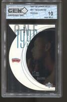 1997-98 Tim Duncan UD Discovery #R1 Rc Rookie Gem Mint 10 San Antonio Spurs