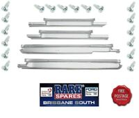 HQ HJ HX HZ WB HOLDEN CHROME 4 DOOR SEDAN WAGON SCUFF PLATES WITH SCREWS NEW GTS
