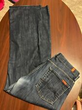 7 For All Mankind Ginger Dark Wash Flare Womens Jeans 32 EUC