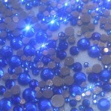 Assortiment de strass bleu safir en verre hotfix s06 + s10 + s16 + s20 n°(106)