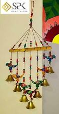 Home decor Wooden Hand painted and Handmade Hanging Wind Chimes Pieces (Multicol