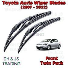 "(07-12) Toyota Auris Front Wiper Blades Windscreen 26"" 16"" Hook Type Wipers"