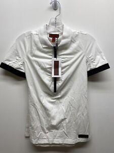 Burberry Sport White Half Zip Polo Shirt BNWT Size L