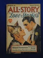 All Story Love March 31st 1934  Classic Cat Girl Cover