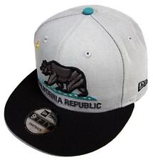 New Era California Republic Grey Black Turquoise Snapback Cap 9fifty 950 Limited