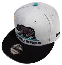 New Era California Republic Grey Black Turquoise Snapback Cap 9fifty 950 Limited