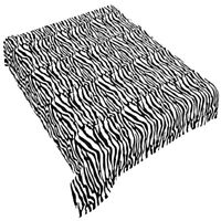 Brand New Modern Blanket Super Soft Throw Bedding Black White Zebra Animal Skin