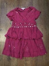 GIRLS AGE 4-5 MONSOON PINK DRESS SUMMER/HOLIDAYS/XMAS/TOWIE/PONY/PARTY/TOP/ELSA