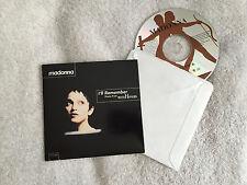 MADONNA - I'LL REMEMBER/SECRET GARDEN (1994) USA 2 TRK CD SINGLE IN CARD SLEEVE