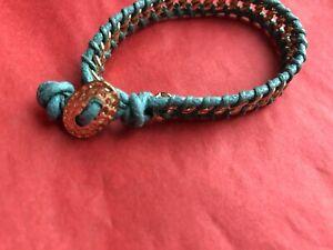 Art Deco Blue Gold Thread Friendship Bracelet Gold Color Fashion New Braid Rope