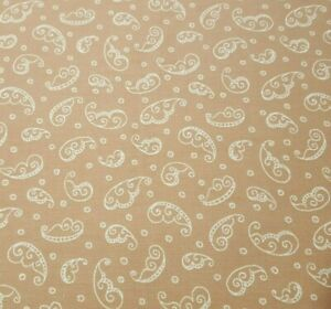 Chelsea by Christine Graf Quilting Treasures BTY Paisley Leaf Ivory Light Brown