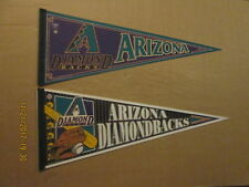 MLB Arizona Diamondbacks Vintage Lot of 2 Circa 2000's Logo Baseball Pennants
