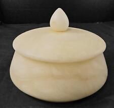 Vintage Alabaster Domed Top Powder Jar