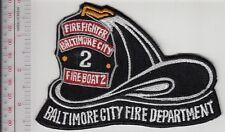 Fire Boat Maryland City of Baltimore Fire Department Marine 2 Helmet Balto City