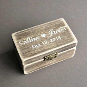Personalized Wedding Ring Box  Shabby Chic Engagement Ring Box Valentines Gift