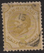 CURACAO :1881-9 60c olive-green   perf 12 1/2 x 12 NVPH 10D  used