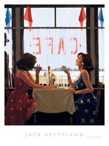 Jack Vettriano - Cafe Days - premium open edition print (40x50)