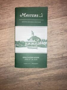 NEW 2019 MASTERS GOLF SPECTATOR GUIDE AUGUSTA NATIONAL GOLF CLUB