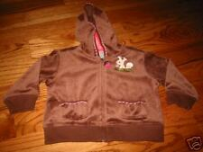 """GG696 NWT 2 2T Gymboree """"Pretty in Plums"""" velour hoodie"""
