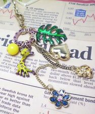 N520 BETSEY JOHNSON Lion King Giraffe Heart Tree Leaf Flower Necklace  US