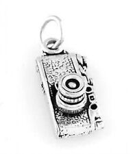 STERLING SILVER PHOTOGRAPHER CAMERA CHARM PENDANT