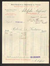 """LYON (69) USINE de VETEMENTS de TRAVAIL """"Adolphe LAFONT"""" 1909"""