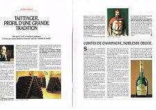 PUBLICITE ADVERTISING 1992 CLAUDE TAITTINGER  & les champagnes  COMTES (2 pages)