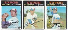 9 1971 TOPPS BASEBALL MONTREAL EXPOS CARDS (RENKO/STONEMAN/MORTON+++)