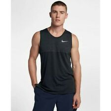 Nike Dri-Fit Medalist Running Tank DRY Knit Black Anthracite 924613 Large